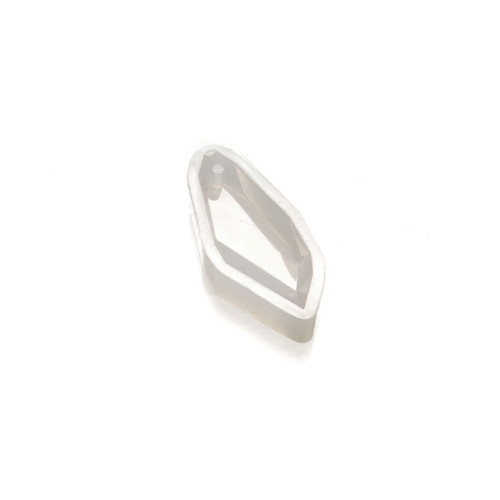 Silicone Resin Mould - Diamond Cut Pendant - Large