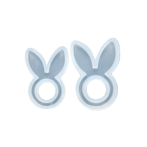 Silicone Resin Mould - Bunny Ears Ring - Small and Large
