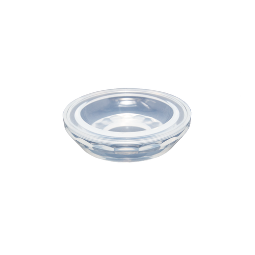 Faceted round dish mould.