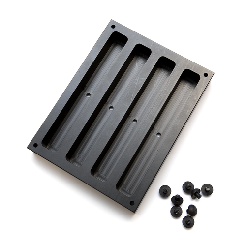 SoliMould Quad Pen Blank Mould with 8 silicone bungs