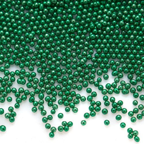 Glass Microbeads - Opaque Green - 1mm - 15g