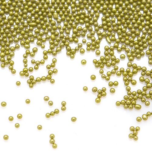 Glass Microbeads - Opaque Olive Green - 1mm - 15g