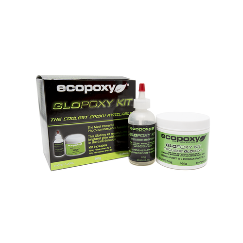 Ecopoxy Glow in the dark pigment. Glopoxy Green.