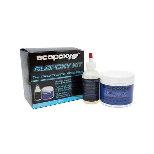 Ecopoxy Glow in the dark pigment. GloPoxy Blue.
