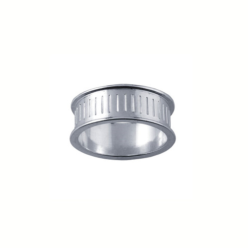 Ring Core 8mm wide - Channel - Silver - UK Size P