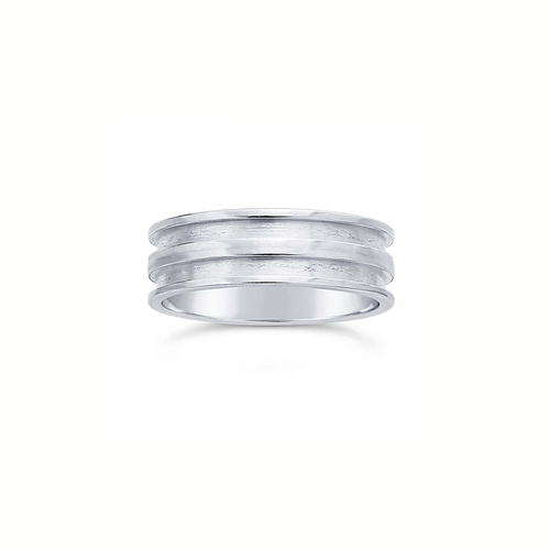Ring Core 6.4mm Wide - Double Channel - Silver