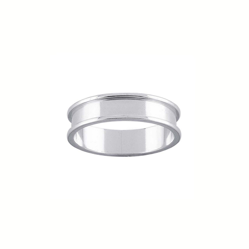 Ring Core 5mm Wide - 3mm Channel - Silver