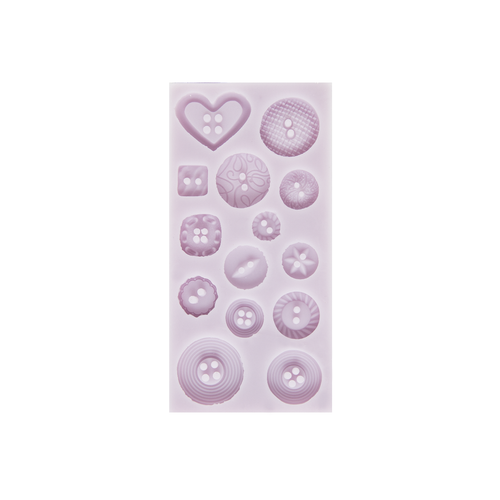 Cernit Silicone Mould Button Shapes