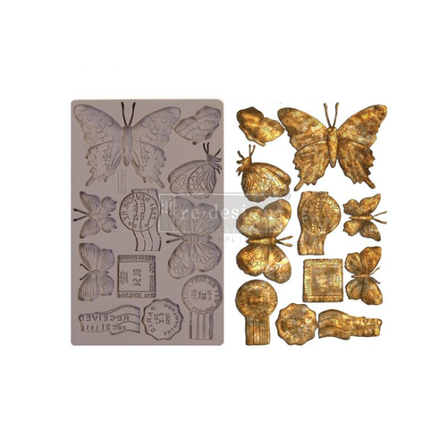 Re•Design Decor Mould by Prima - Butterfly In Flight 5x8""