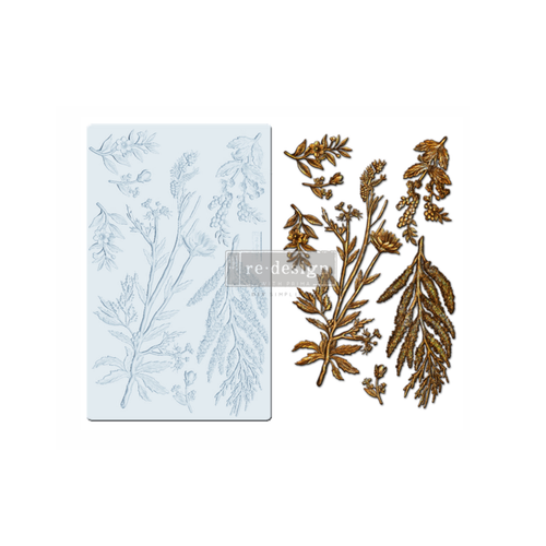 """Re•Design Decor Mould by Prima - Herbology 5x8"""" With examples"""