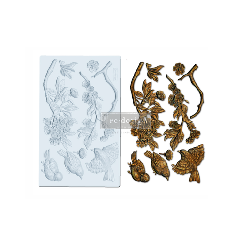 "Re•Design Decor Mould by Prima - Aviary 5x8"" With examples"