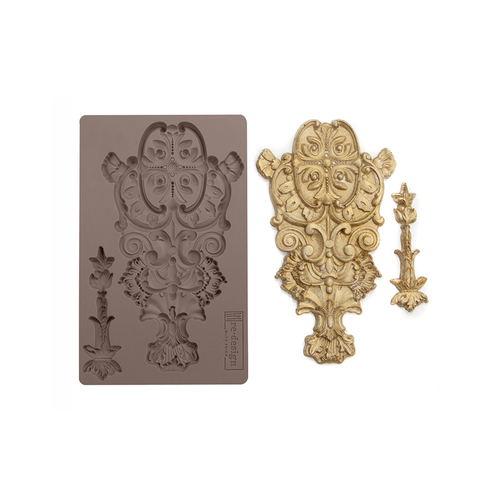"""Re•Design Decor Mould by Prima - Golden Emblem 5x8"""" With examples"""