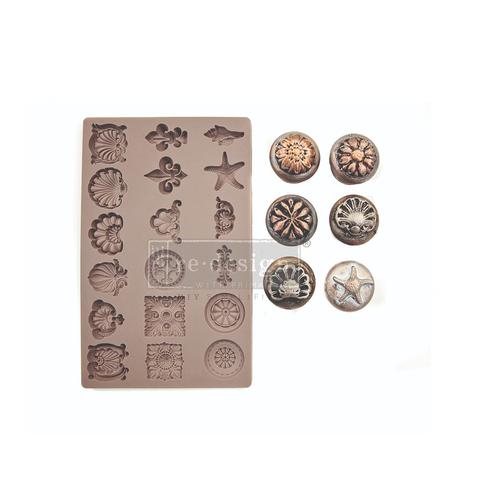 "Re•Design Decor Mould by Prima - Seashore Treasures 5x8"" With examples"