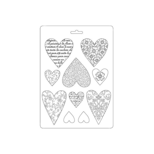 Stamperia Soft Plastic Mould - Hearts