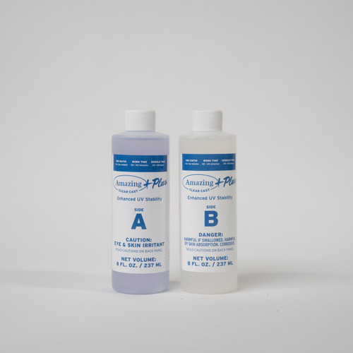 Amazing Clear Cast PLUS + 16oz (470ml/approx 500 grams).  This comes in 2 parts; 8oz part A and 8oz part B.