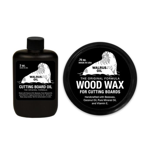 Walrus Cutting Board Oil & Wood Wax for Cutting Boards - Bundle (sample)