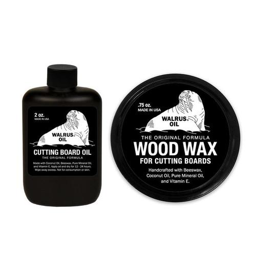 Walrus Cutting Board Oil & Wood Wax for Cutting Boards - Bundle (sample)
