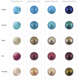 Padico Pearl Colour samples