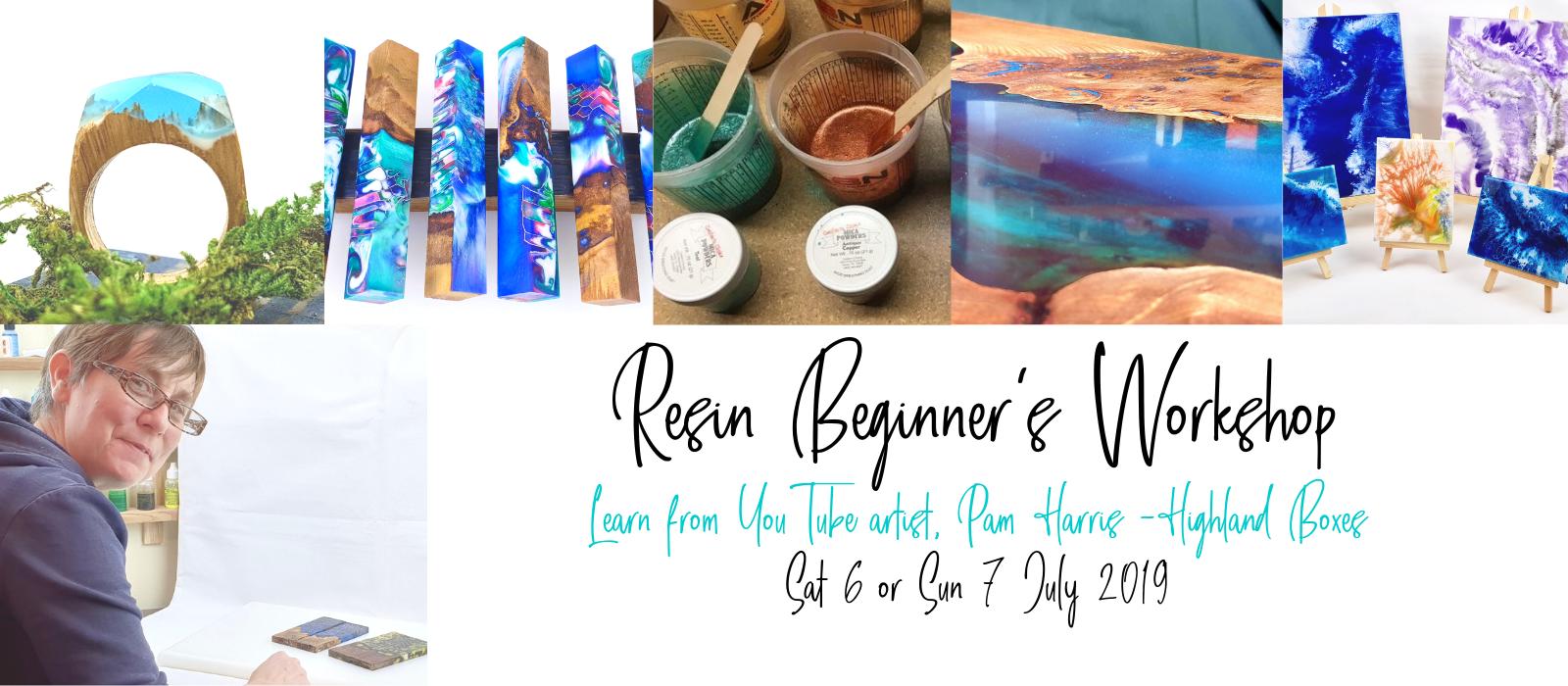 Resin workshop Pam Harris Highland Boxes