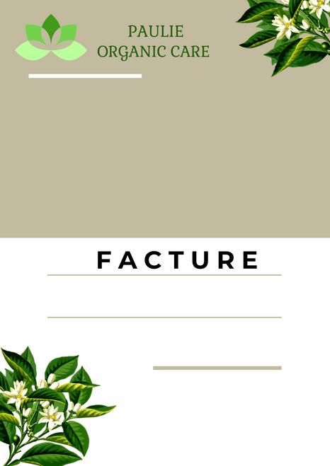 Paulie Organic Care Facture