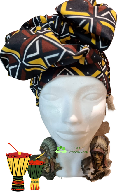 African Head Wrap 7  Today, Black women's head wraps vary in form and style. We have silk bonnets at night and African fabrics in the day. Privately, they have been a tool for protection: keeping our hair undamaged, lowering maintenance costs associated with looking professional, and allowing us to genuinely rest our weary heads. Publicly, they have become an aesthetic symbol of Black identity and a rebellious spirit. The reclaiming of the headwrap as something that Black women consciously choose and voluntarily adopt, however, is a recent phenomenon.