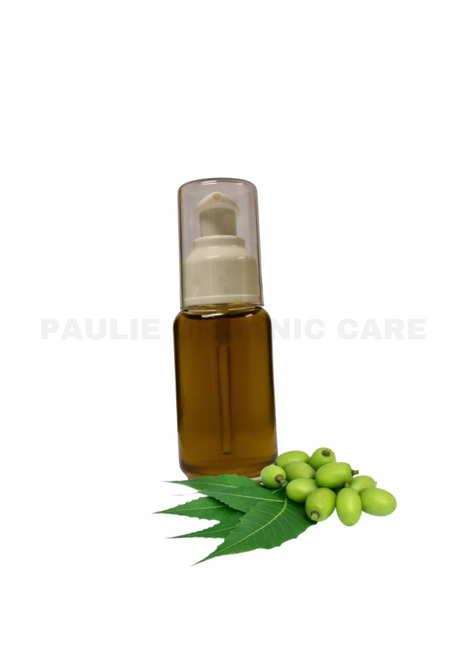 Paulie Organic Neem Oil is cold pressed.  Neem oil is good for all skin types, especially dry skin.   Neem oil is good for Face: Neo-oil has regenerated properties and counteracts dry skin. Its antibacterial properties can also be effective against skin problem.   Body: Counteracts dry and irritated skin   Hair: Use as a hair foil with almond oil or add a few drops to your shampoo to counteract dry and frizzy hair. Neem oil is also  have a good effect against dandruff.   The oil is rich in omega 9 but also contains omega 6, and can be used in regenerating products for dry skin and hair.
