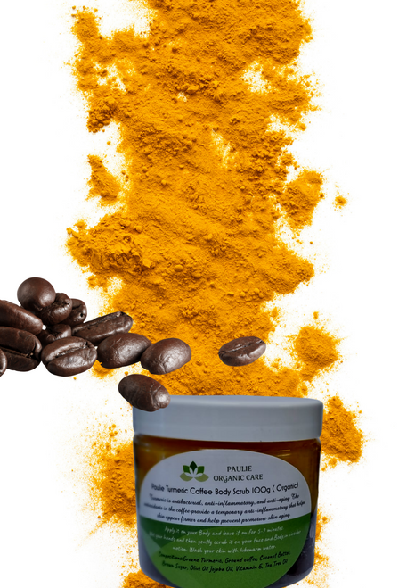 Paulie Turmeric and Coffee Scrub (for  face and Body ) 100g ( Organic)