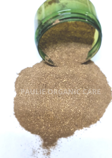 PAULIE'S CHEBE POWDER FROM TCHAD 100G   GET CHEBE POWDER FOR HAIR GROWTH  Chebe powder can help your growth and hair maintenance a lot. You can even use it constantly for your natural ingredient routine.  However you use it, Chebe powder is going to revitalize hair. Enjoy the natural hair process, and love the weave you grow.    WHAT IS CHEBE POWDER  Chebe powder is a common name for specific ingredients mixtures. The product originates from Cheba, where women use it to braid their hair traditionally.  In Chad, women mix the powder in their hair to keep it waist-long and braided. For women in the natural hair community, Chebe powder help to maintain and nurture the hair.  Here is what Chebe powder can do for your natural hair.   STRENGTHEN YOUR HAIR    CLEANSE YOUR HAIR    MAINTAIN SCALP HEALTH    MOISTURIZE YOUR HAIR    REMEDY DRY DAMAGED HAIR   MAINTAIN NATURAL HAIR    In its original purpose, Chebe powder purpose is to protect long hair. To get the most out of this natural protection, you have to apply it deeply to your hair. Chebe powder enhances each strand, improving the overall volume of your hair. Natural hair experts recommend it for the hair extending down to the back and waist.  The hair maintenance becomes harder the longer natural hair is. Hair maintenance becomes much easier when you have the product you can apply during the shower.  Natural hair gains a higher quality when you maintain it with a routine. Cheba powder is excellent for this since you can mix it with any other hair product.