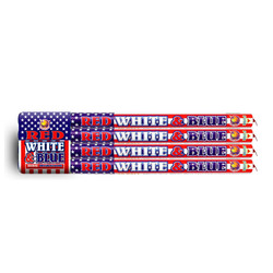 10S Red White Blue Crackling Candle