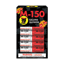 M-150 Red/Silver Salute Assorted