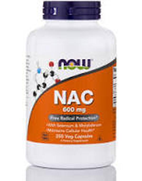 NAC 600mg N-Acetyl Cysteine (60 Vegecaps) (NON GMO) - Regular