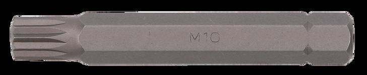 Bit spline 10mm, 75mmL M10