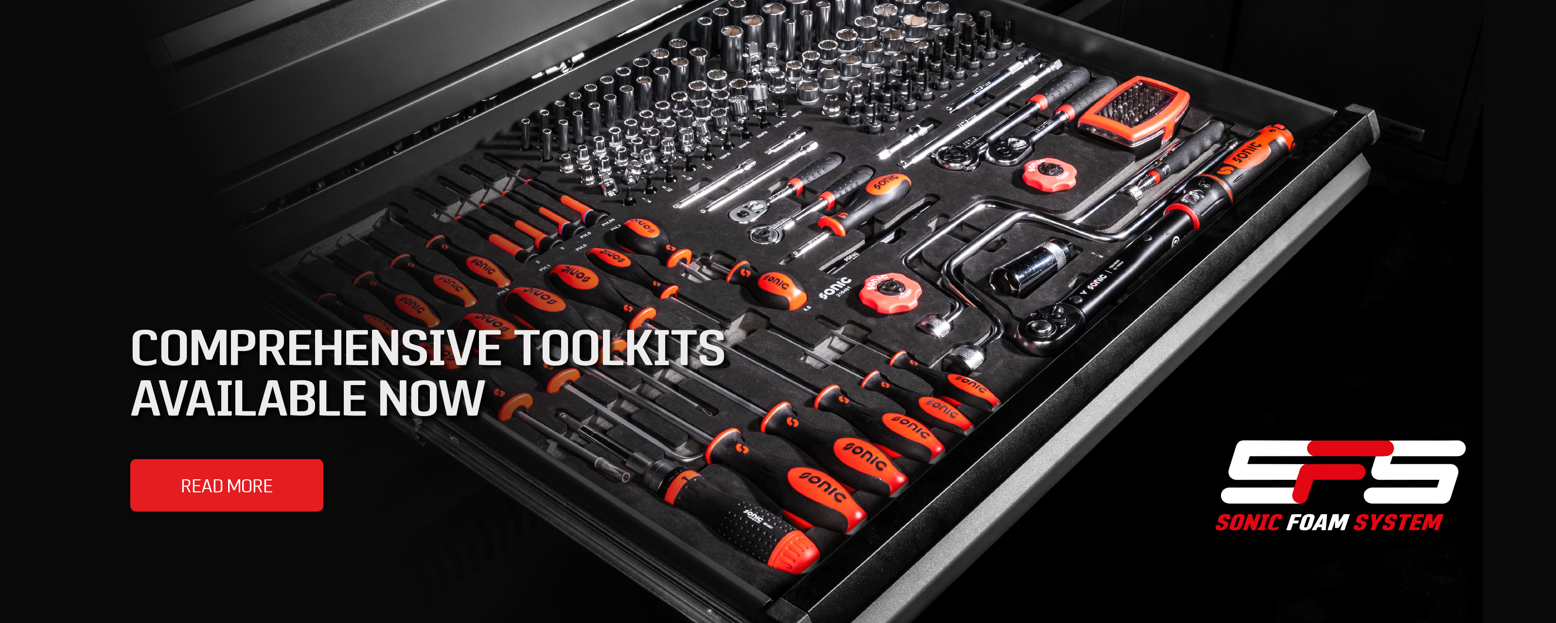 Sonic toolkits available now without the toolbox. Get up to 644 tools all in the Sonic Foam System