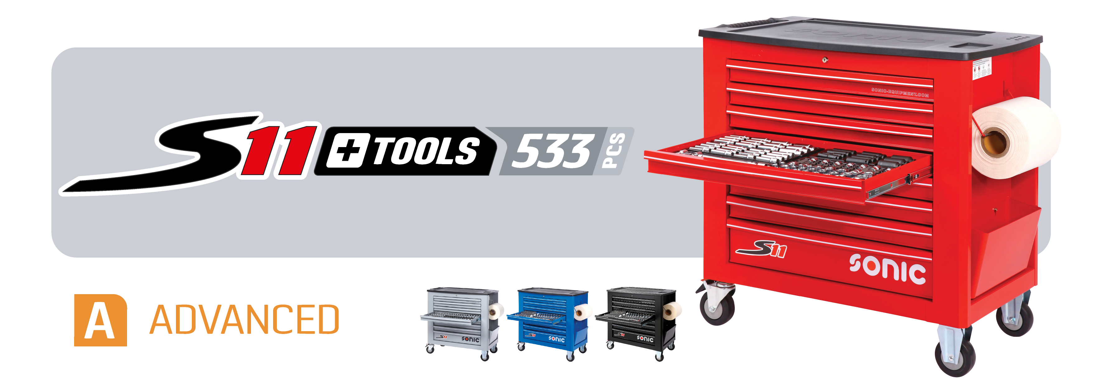 S11 toolbox with tools
