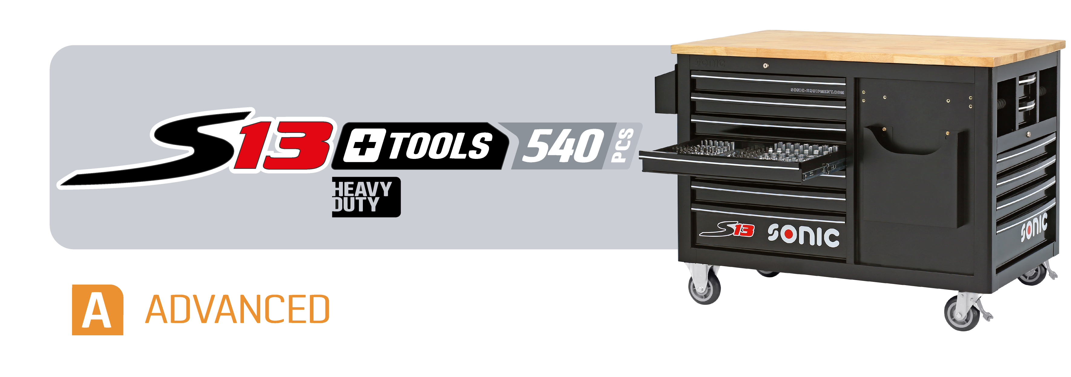 S13 toolbox with tools