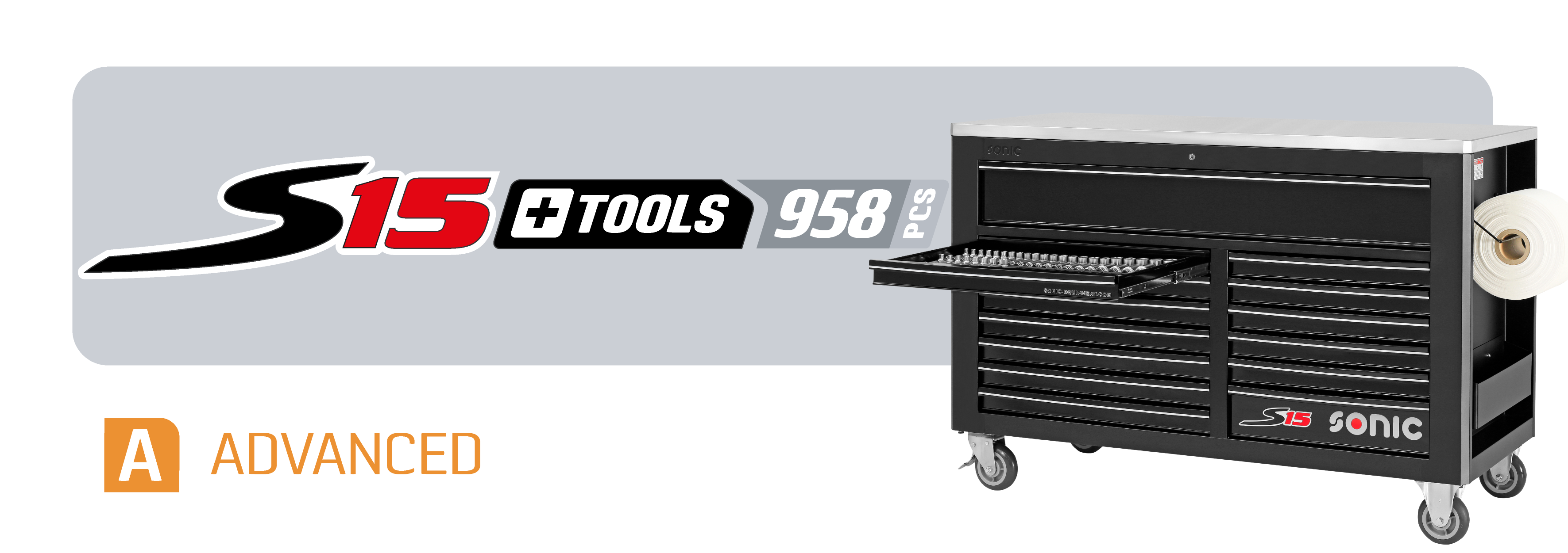 S15 toolbox with tools
