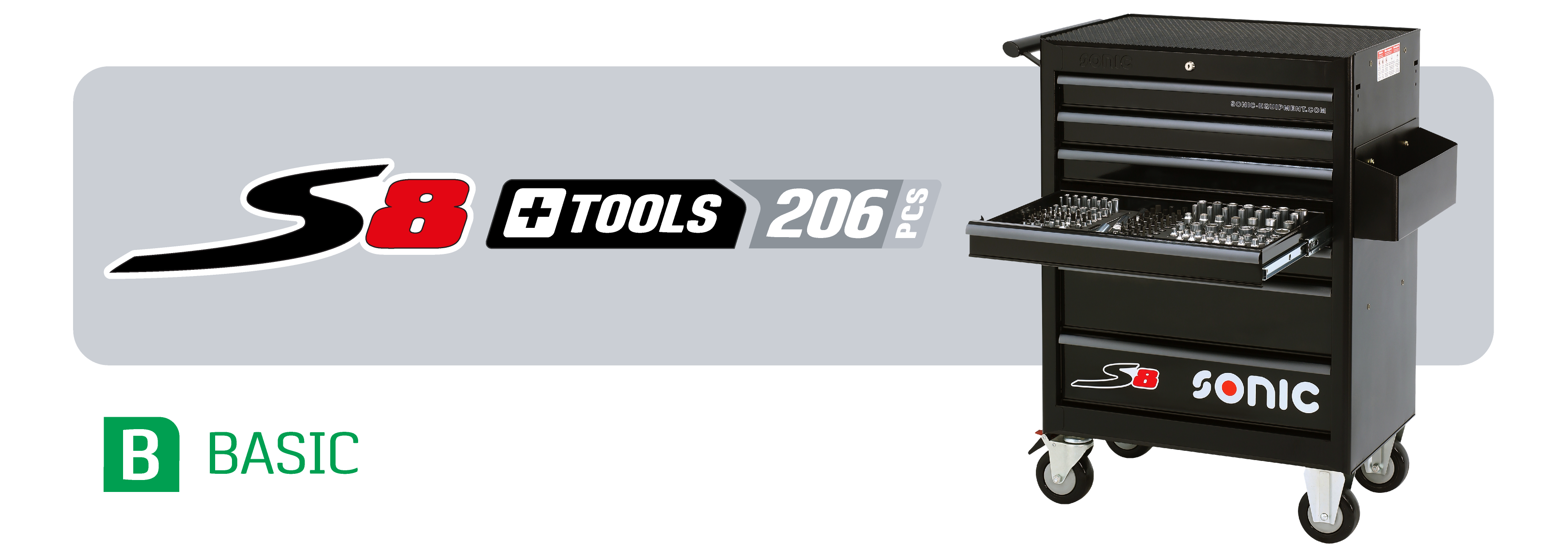 S8 206 piece toolbox