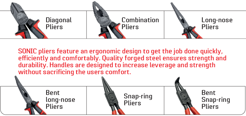 multiple styles of pliers available