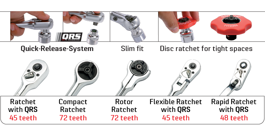 Sonic Tools Offers a Wide Variety Of Ratchets in its Product Line Ranging from 1/4 - 1
