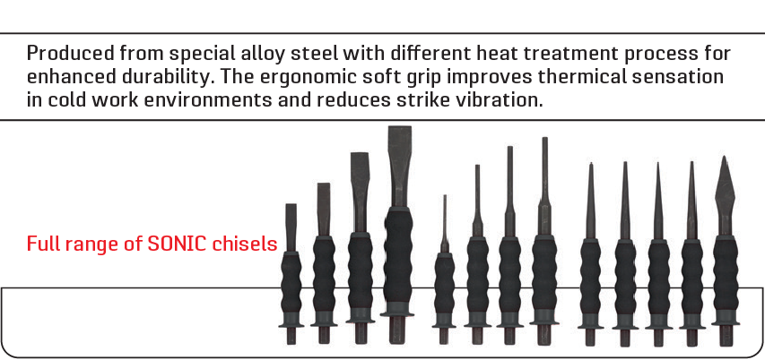 full range of sonic chisels