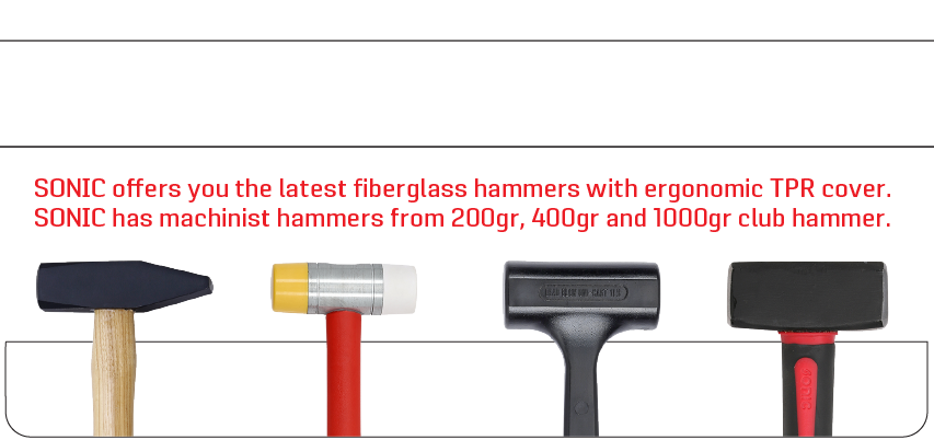 sonic hammers available in different styles