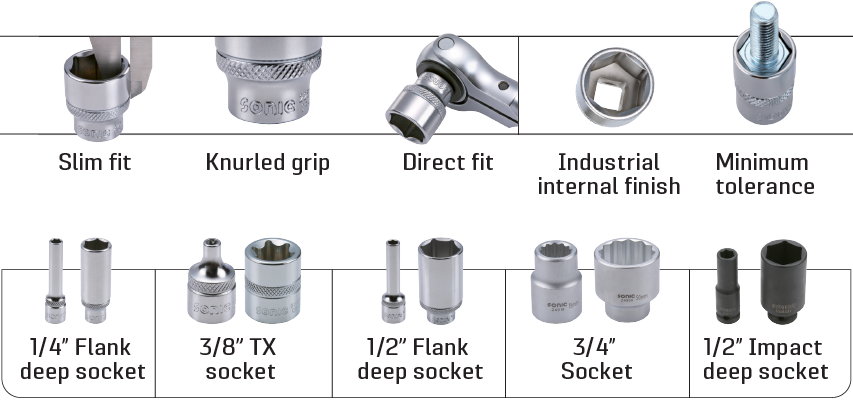 sockets available in many sizes for all jobs