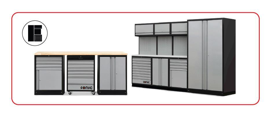 pre-configured storage cabinets