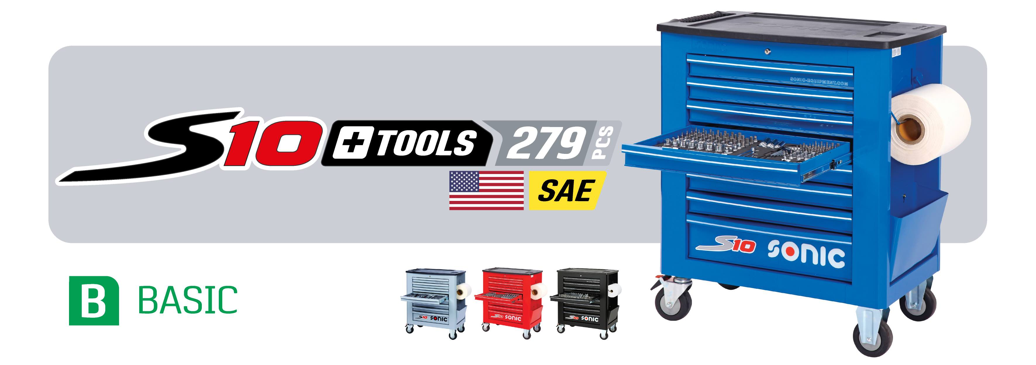 S10 filled toolbox with 279 piece toolkit