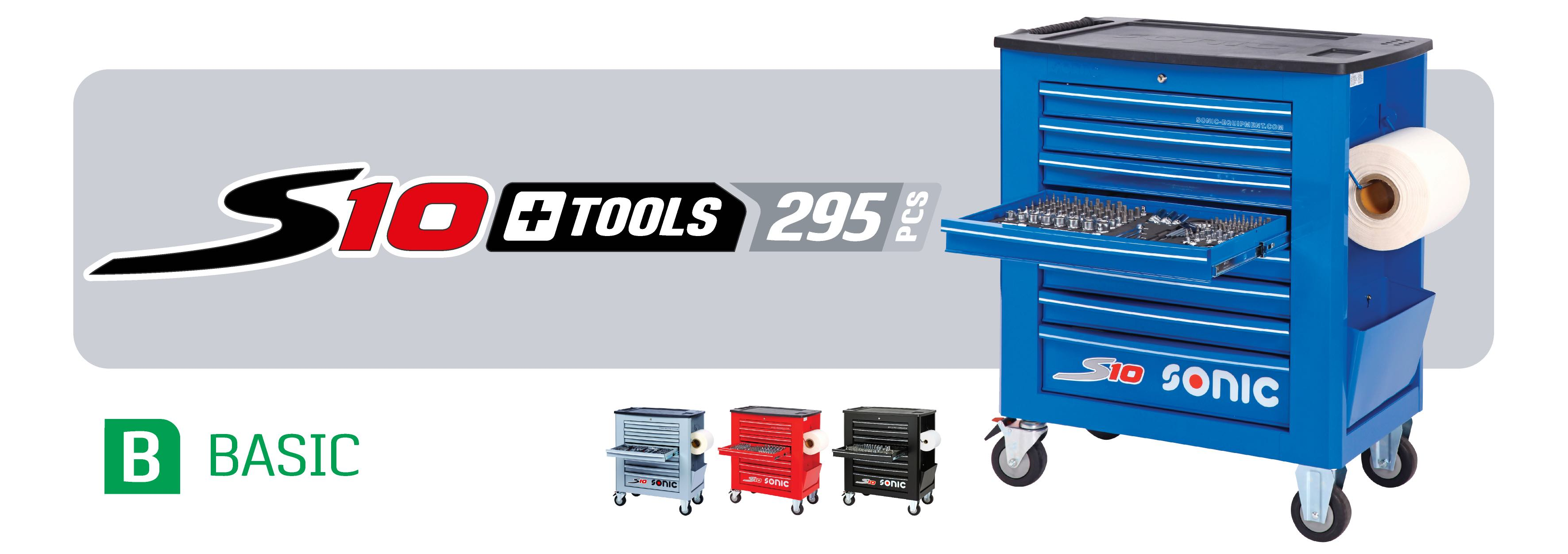 S10 SAE 295 piece toolbox