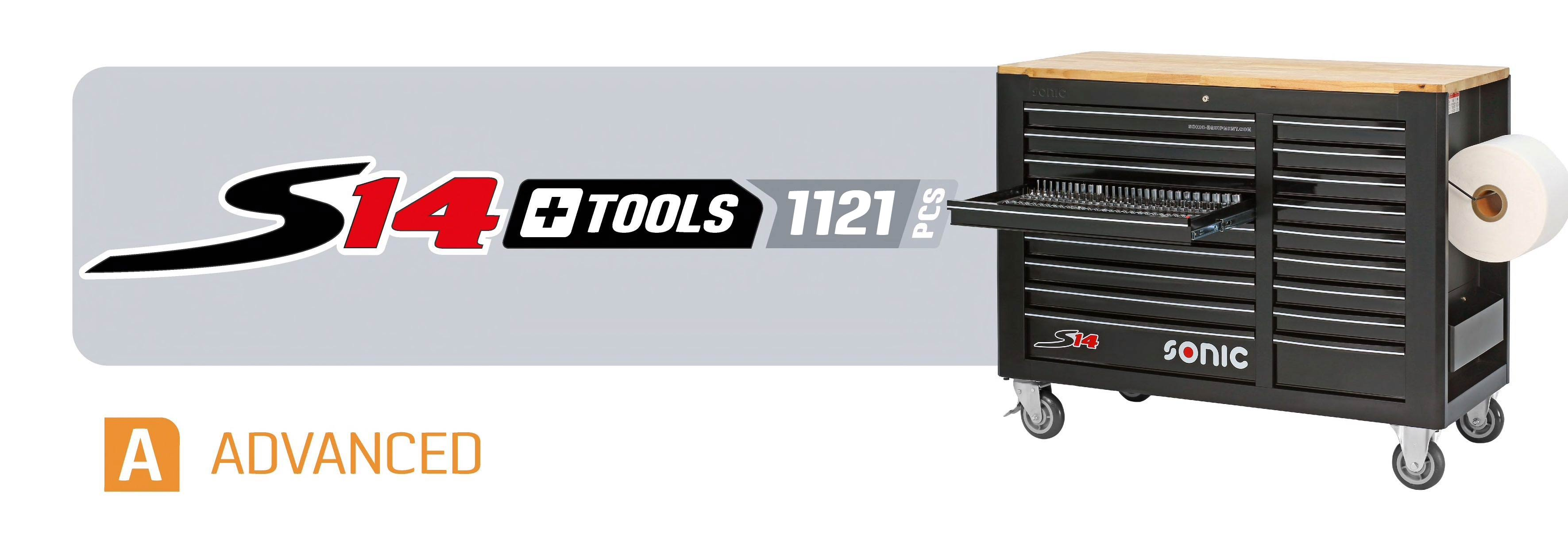 tool workbench with tools