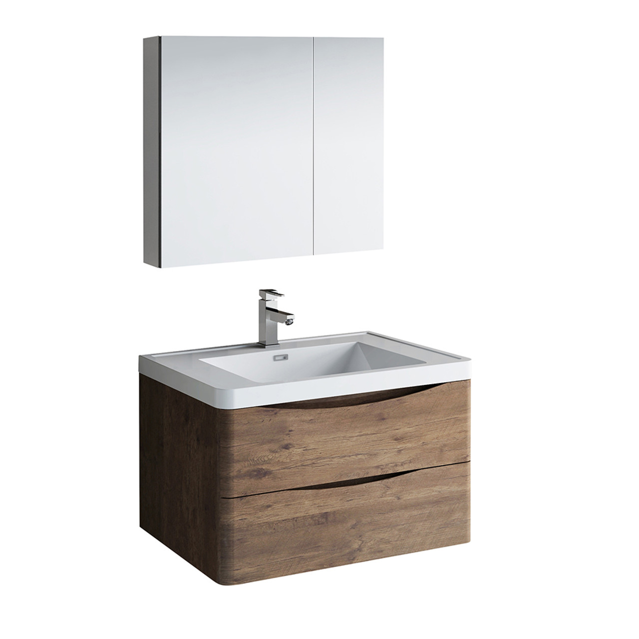 Picture of: Tuscany 32 Wall Hung Modern Bathroom Vanity W Medicine Cabinet Fvn9032 Residential Baths