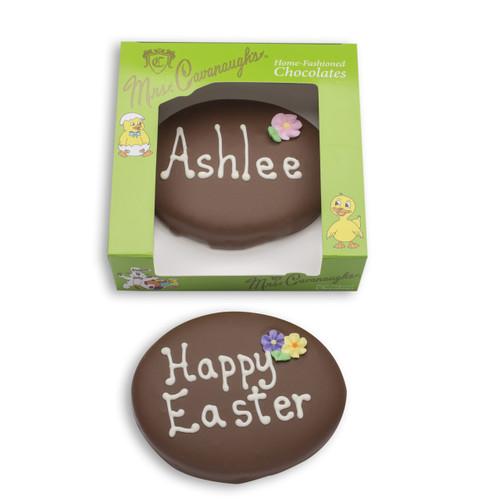 7 oz personalized chocolate egg