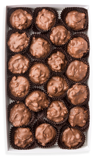 Pecans blended with milk chocolate