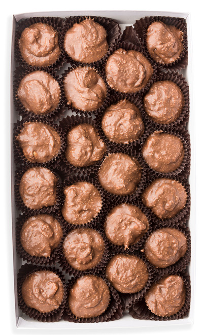 Aloha clusters - Macadamia nuts and toasted coconut smothered in our smooth milk chocolate